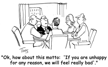 customer service strategic advantage cartoon
