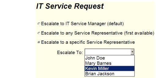 Business Process Management IT Service Request