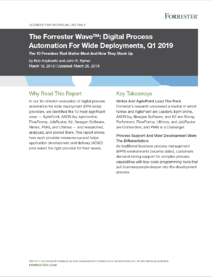 Forrester Wave Report Digital Process Automation