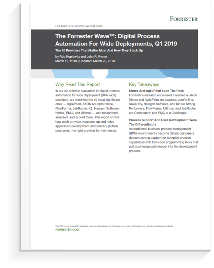 Ultimus in The Forrester Wave: Digital Process Automation
